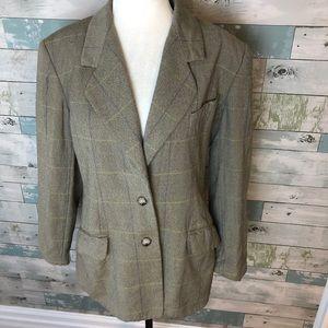 Vintage Burberrys wool/cashmere blazer size 12P***